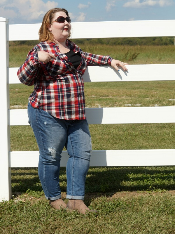 Shoedazzle plaid western outfit