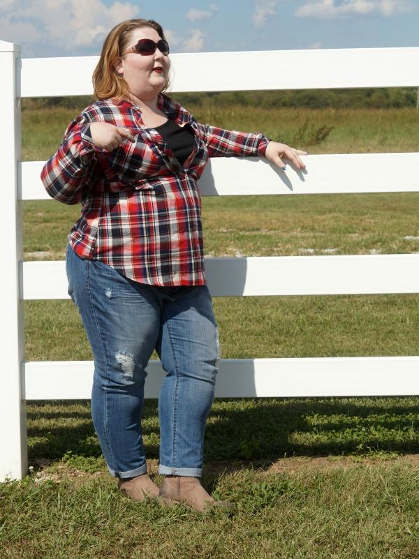 Shoedazzle plaid western outfit