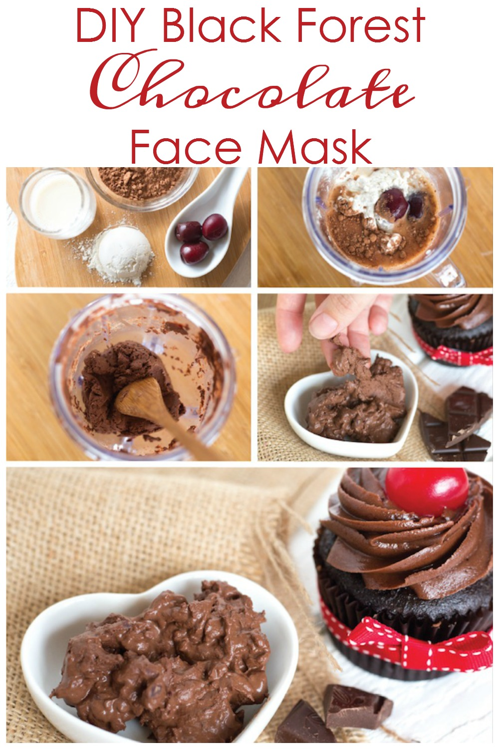 How to make a chocolate black forest cake facial mask