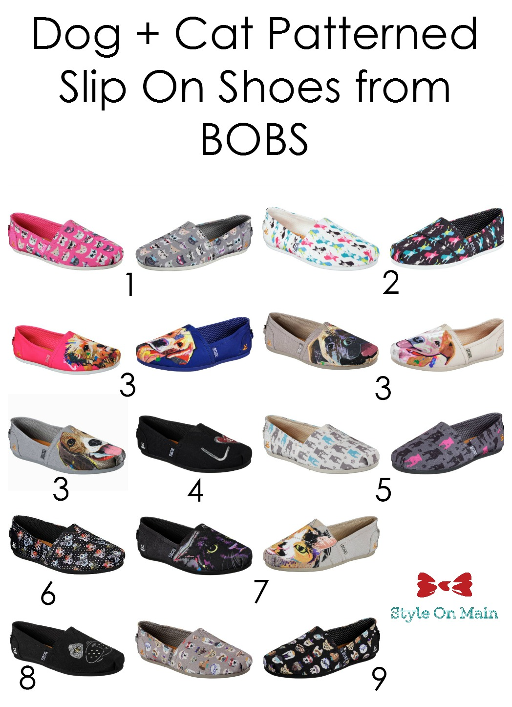 Dogs and Cats Printed Shoes from BOBS by Skechers.