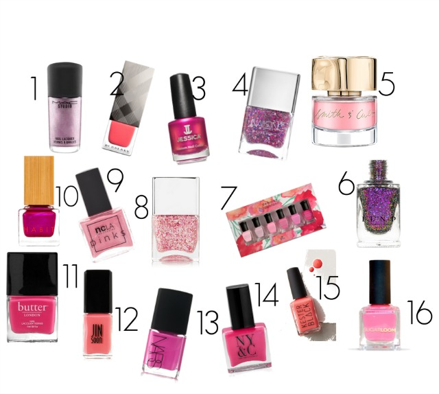 16 really fabulous pink nail lacquers for Valentine's Day and Spring