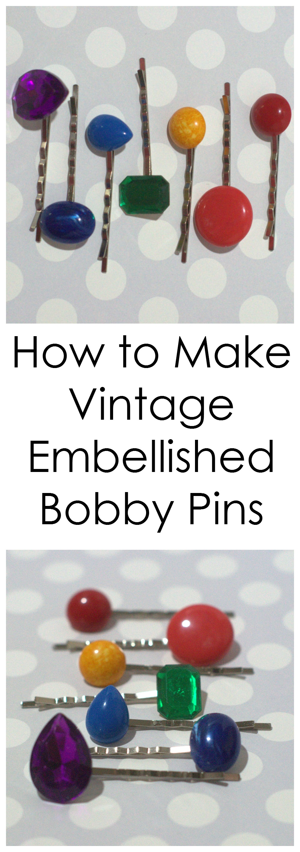 How to make vintage embellished bobby pins