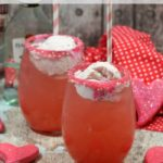 Make this delicious and easy alcoholic Strawberry Sunshine cocktail float today