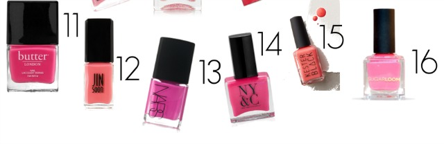 Peerfect pink nail lacquers for Valentine's Day 11-16
