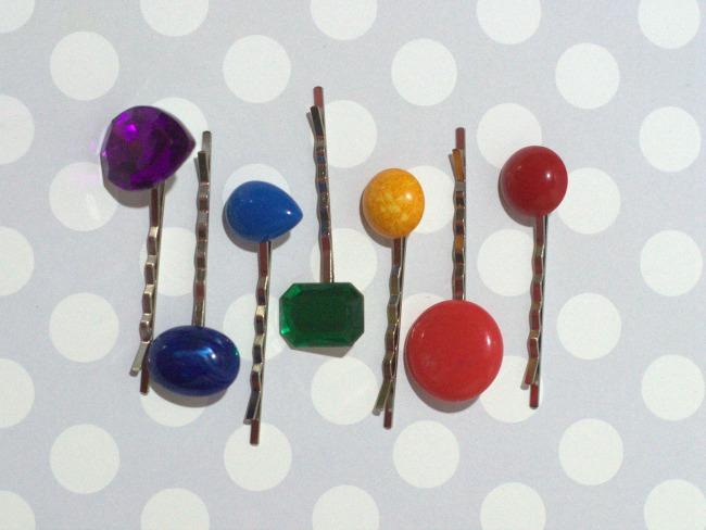 embellished vintage bobby pins