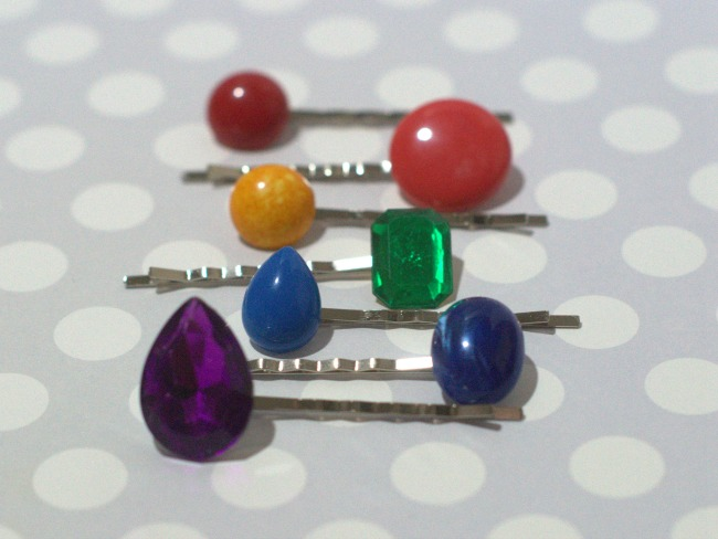 How to make vintage rainbow embellished bobby pins
