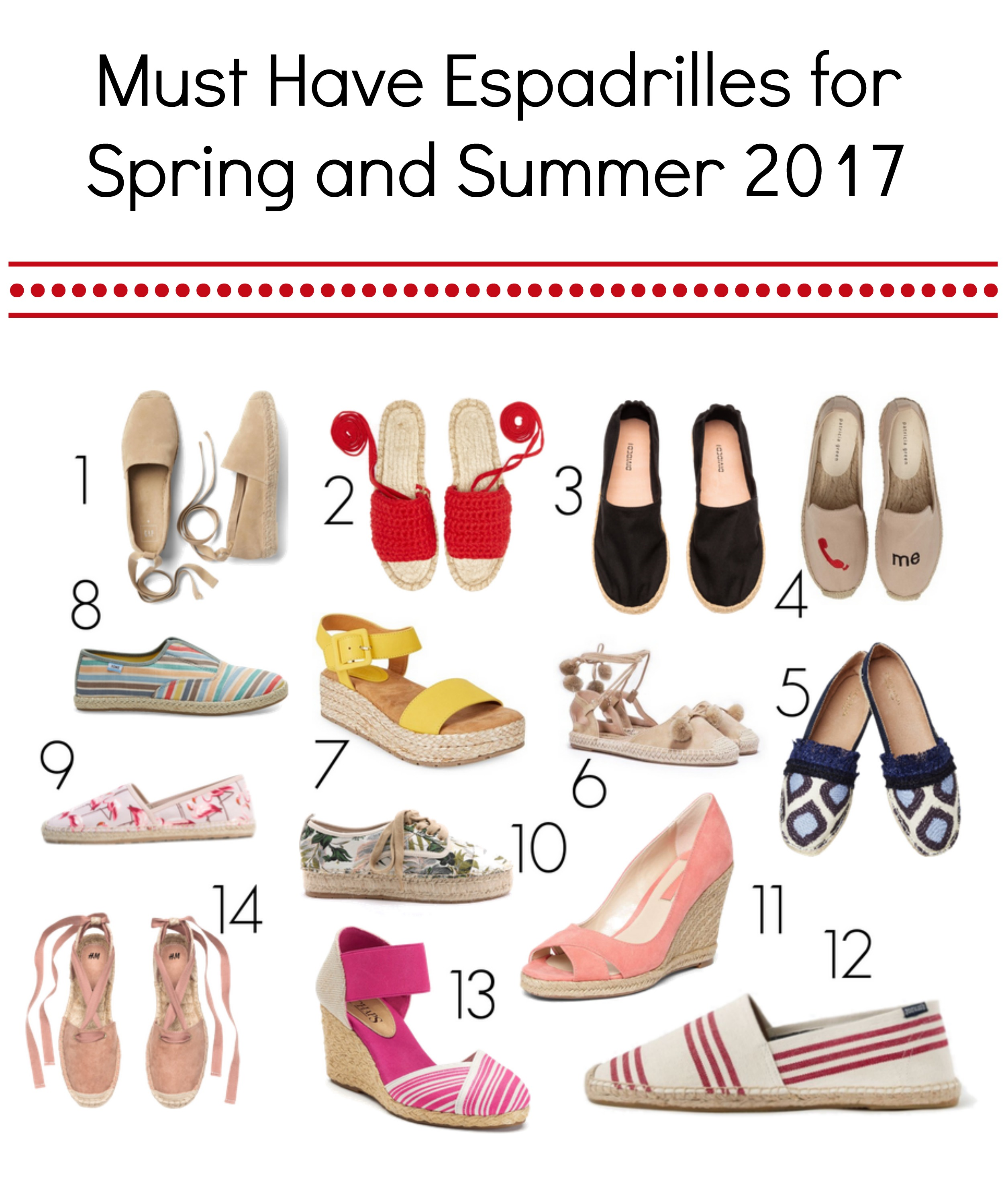 The absolute best, must have womens espadrilles for 2017
