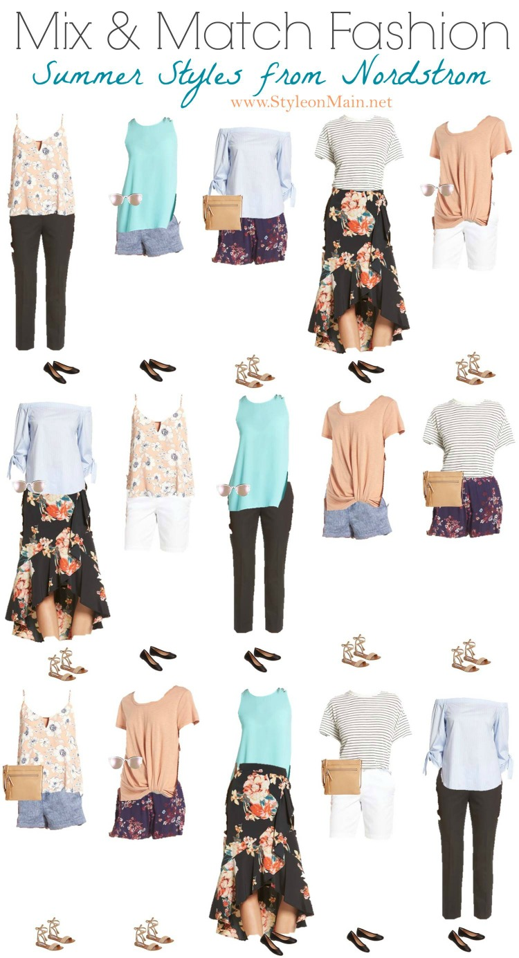 Nordstrom Summer 2017 Mix and Match Wardrobe