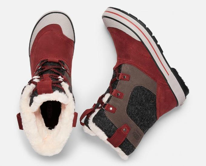 Keen Elsa Pinot Noir boots