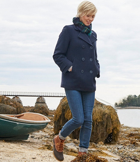 Navy Lambswool Peacoat from LL Bean