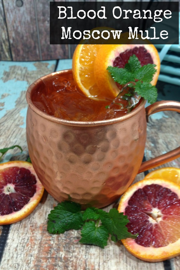 Moscow Mules are a popular cocktail that's so easy to make. Looking for a modern twist? Try this easy and simple Blood Orange Moscow Mule variation of the classic drink recipe