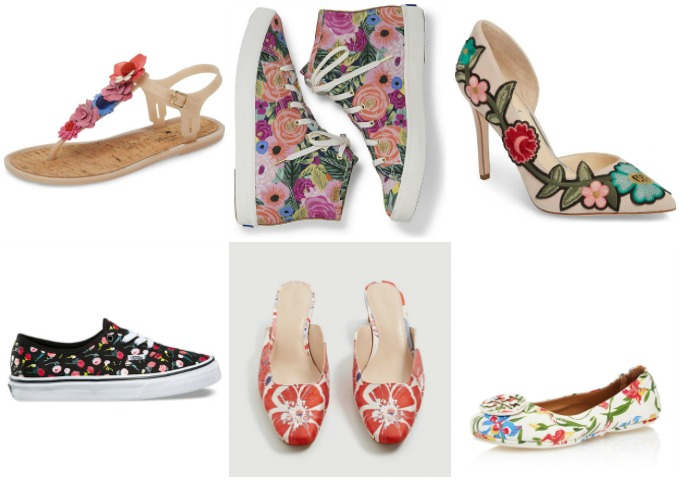 Stylish and trendy flower print shoes for Spring 2018 and beyond