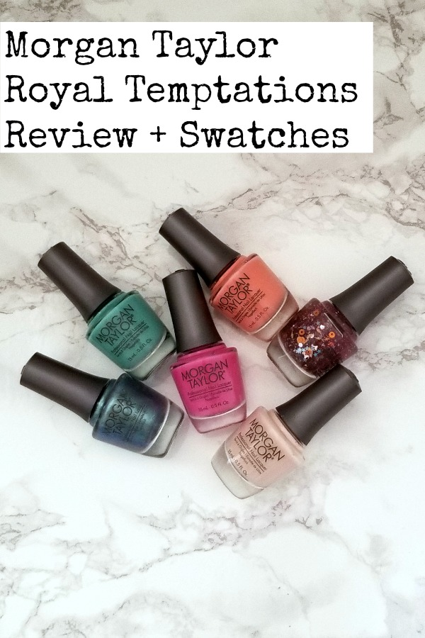 A review with swatches of the Morgan Taylor Nail Lacquers Royal Temptations nail polish collection. #beauty #nails #nailpolish