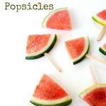 Boozy alcoholic watermelon popsicles