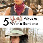 Fashionable ways to wear a bandana