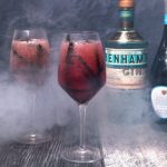 Spooky Vampire's Bubbly Cocktail for Halloween