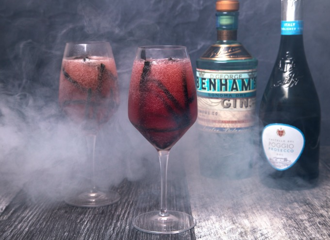 Vampires Bubbly A spooky gin based cocktail for Halloween