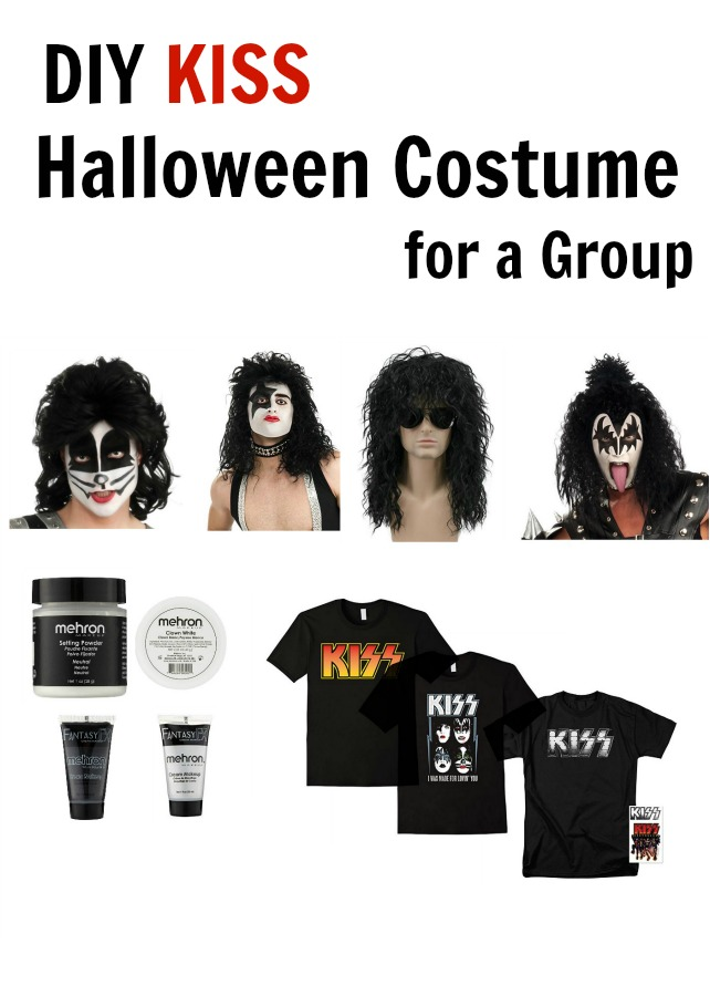 KISS DIY Halloween costume for a group. Easy to put together, comfy to wear.