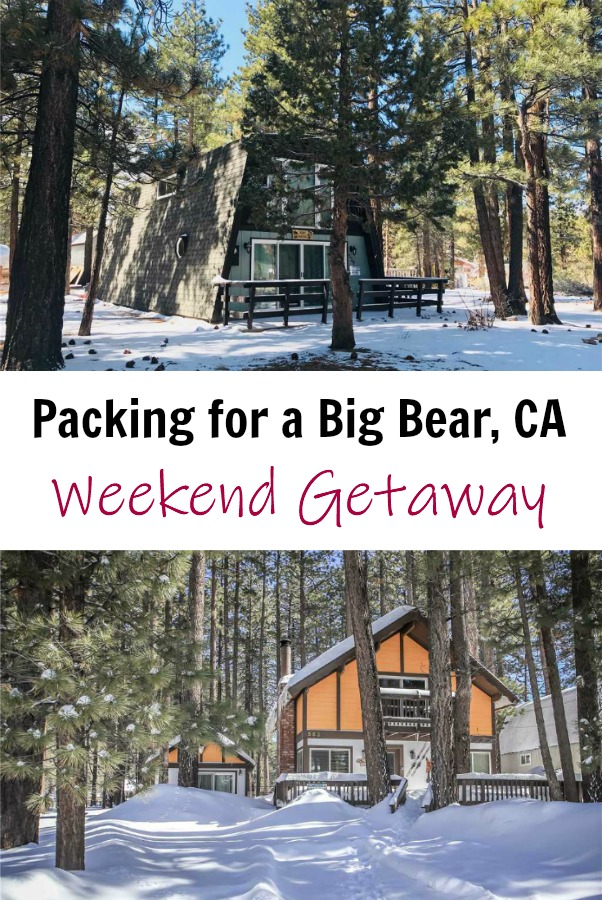 Big Bear CA is a great four season  mountain town in Southern California. See what you should pack for a winter weekend getaway, plus find a great discount code if you're planning to visit. mountains | Ski | skiing | vacation | travel | road trip | SoCal | So Cal | Cali | snow #travel #roadtrip