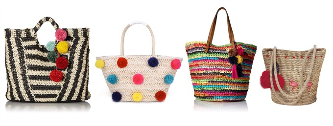 great pom pom bags for spring and summer from Amazon