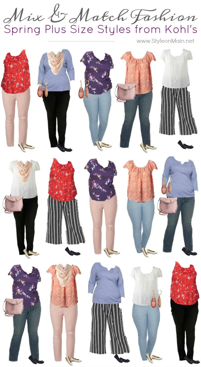 Kohls Plus Sized Mix and Match Capsule Wardrobe for Spring 2019