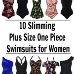 Slimming one piece bathing suits that are affordable. These swimsuits are all available from Amazon and most are under $30. | Wome | Plus Sized | Retro | Ruffle | Tummy control | curvy | Retro Vintage | swimwear | summer fashion