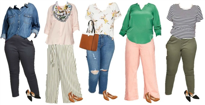 Target Large Size mix and match capsule wardrobe 2019