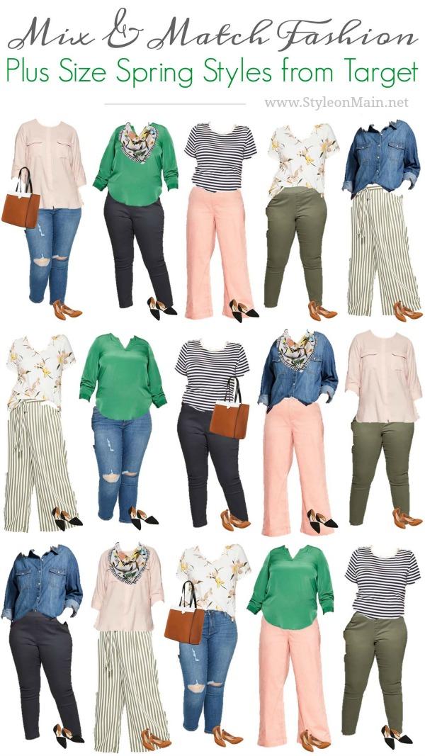 2019 Target Spring Plus Sized Capsule Wardrobe | Curvy | Large Sized | Mix and Match Wardrobe | Fashion |