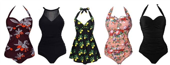 Affordable slimming swinsuits from Amazon