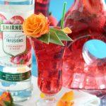 Low Calorie Strawberry Rose Vodka Spritzer Cocktail | Low Carb Keto Friendly