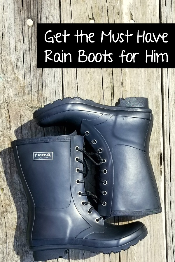 Get these must have rain boots for the guys in your life. | Rainboot | Men fashion | Shoe style | Dude |