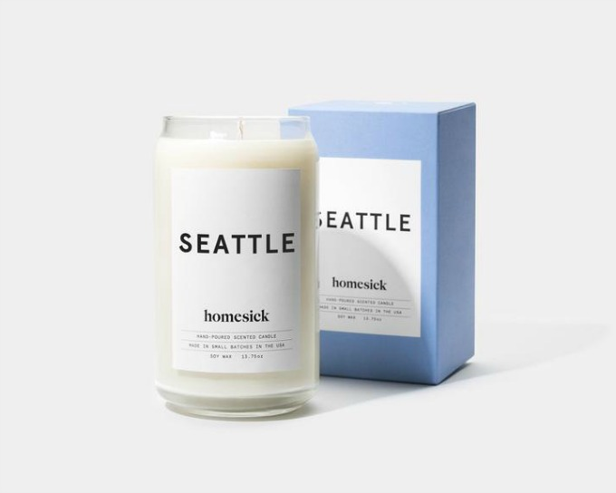 Homesick candle that smells like the city of Seattle