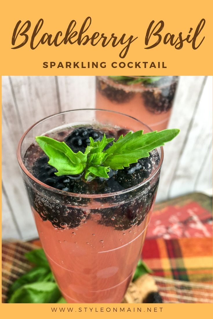 Blackberry Basil Sparkler is a perfect cocktail for any entertaining event. It's fairly low in carbs and can easily be made keto friendly. Perfect for a custom wedding drink, bridal shower, or any other time.