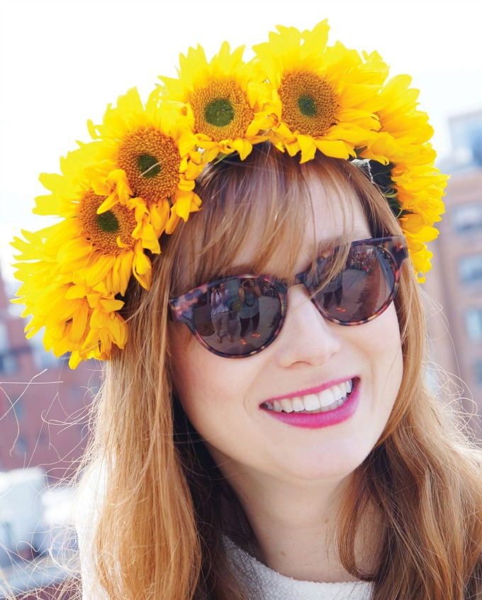 How to make a sunflower crown headpiece