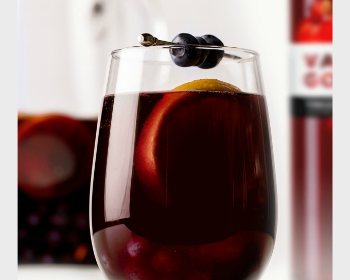 Sparkling Blueberry Sangria Recipe