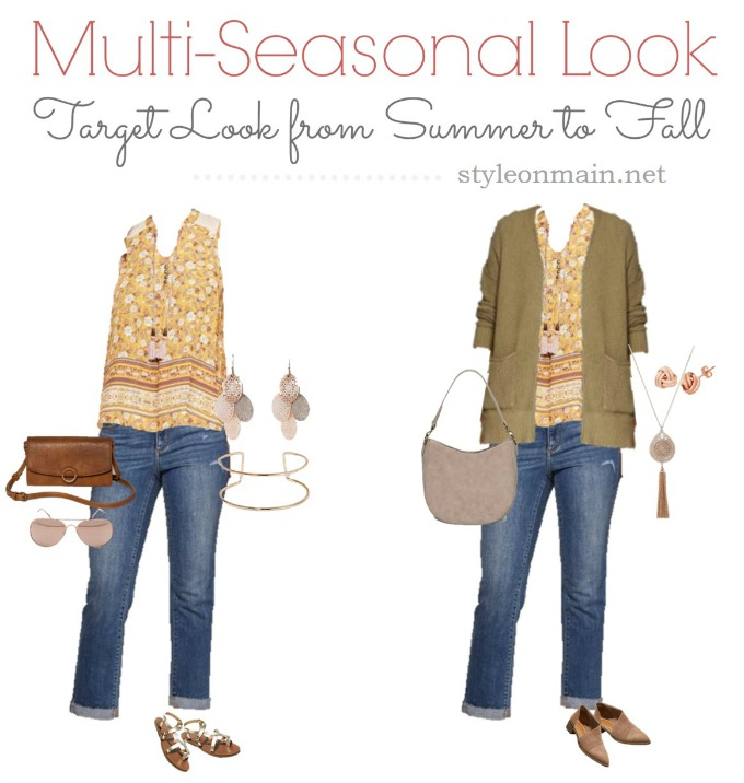 Target Summer to Fall transitional outfit