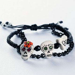 How to make a sugar skull bracelet with polymer clay