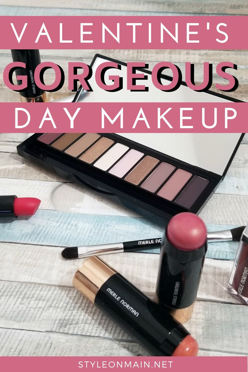 Fabulous Valentine's Day Makeup choices from merle Norman. These beauty items are also totally wearable for the rest of the year, too.