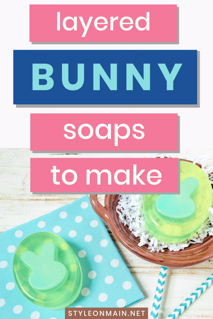 Make your own homemade layered bunny rabbit soap. This handmade soap tutorial is perfect for Easter, spring, baby showers, or any other occasion.
