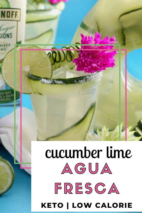Low carb Cucumber Lime Boozy Agua Fresca recipe