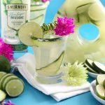 Low Calorie Boozy Cucumber Lime Aqua Fresca Cocktail   Low Carb Keto Friendly