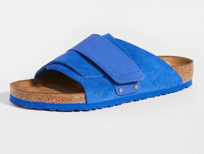 Blue Kyoto Birkenstock Slides