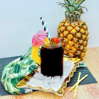 Boozy Pineapple Cola Cocktail recipe