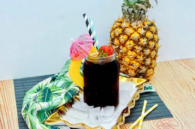 Boozy Pineapple Cola Cocktail recipe