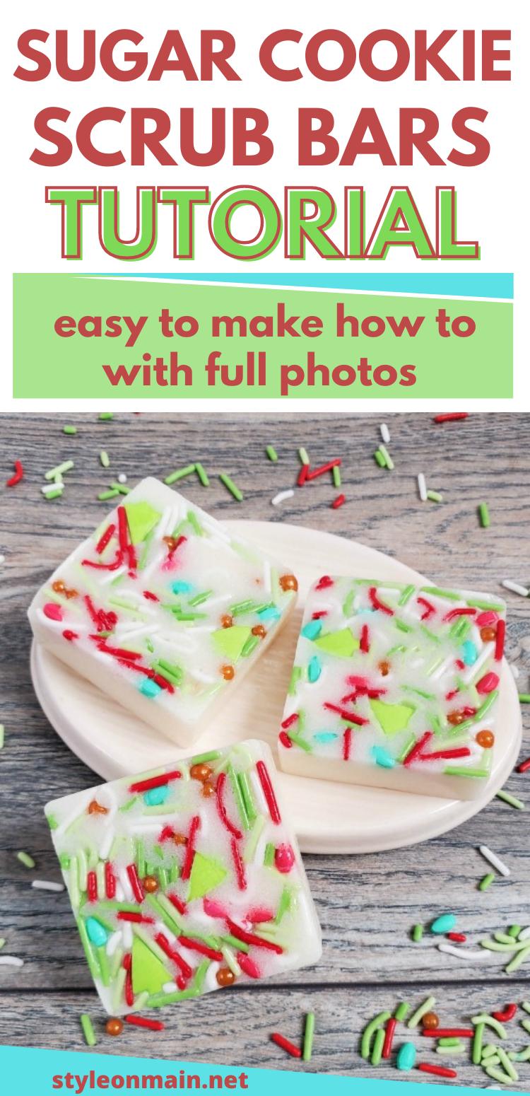 How to make DIY Sugar Cookie Sugar Scrub Bars