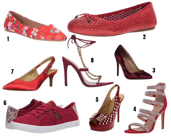 Red shoes under $50 2021