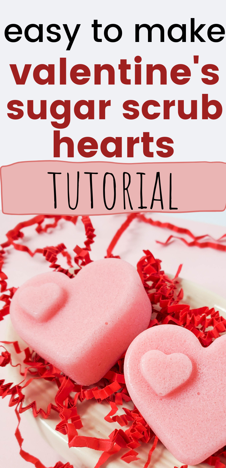 Simple and easy Valentine's Day sugar scrub bars tutorial. These are so easy to make, and make a great craft show seller or a gift idea.